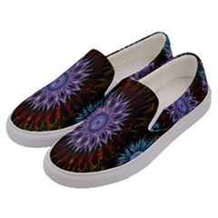 Flower Stigma Colorful Rainbow Animation Gold Space Men s Canvas Slip Ons by Mariart