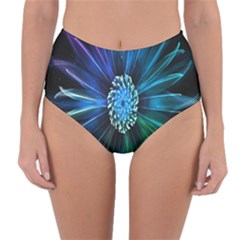 Flower Stigma Colorful Rainbow Animation Space Reversible High Waist Bikini Bottoms by Mariart