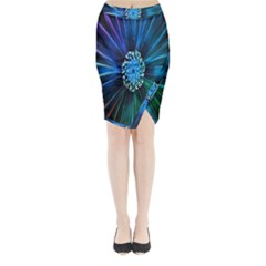 Flower Stigma Colorful Rainbow Animation Space Midi Wrap Pencil Skirt by Mariart