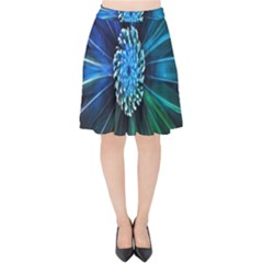 Flower Stigma Colorful Rainbow Animation Space Velvet High Waist Skirt by Mariart