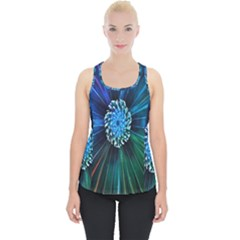 Flower Stigma Colorful Rainbow Animation Space Piece Up Tank Top