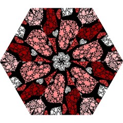 Floral Flower Heart Valentine Mini Folding Umbrellas by Mariart