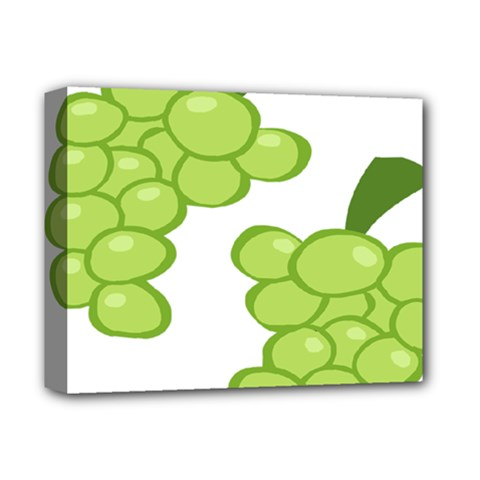 Fruit Green Grape Deluxe Canvas 14  X 11  by Mariart