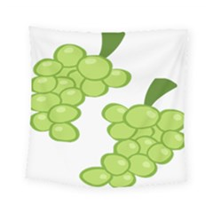 Fruit Green Grape Square Tapestry (small) by Mariart