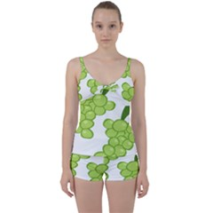 Fruit Green Grape Tie Front Two Piece Tankini