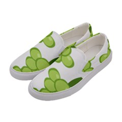 Fruit Green Grape Women s Canvas Slip Ons by Mariart