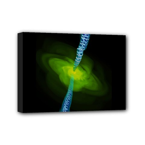 Gas Yellow Falling Into Black Hole Mini Canvas 7  X 5  by Mariart