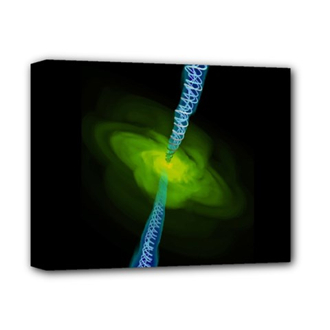 Gas Yellow Falling Into Black Hole Deluxe Canvas 14  X 11  by Mariart