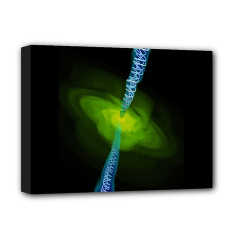 Gas Yellow Falling Into Black Hole Deluxe Canvas 16  X 12   by Mariart