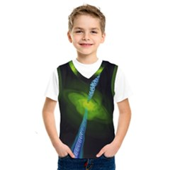 Gas Yellow Falling Into Black Hole Kids  Sportswear