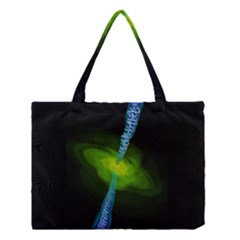 Gas Yellow Falling Into Black Hole Medium Tote Bag