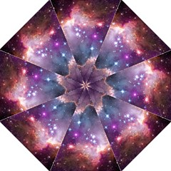 Galaxy Space Star Light Purple Folding Umbrellas by Mariart