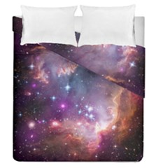 Galaxy Space Star Light Purple Duvet Cover Double Side (queen Size) by Mariart