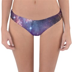 Galaxy Space Star Light Purple Reversible Hipster Bikini Bottoms by Mariart