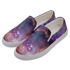 Galaxy Space Star Light Purple Men s Canvas Slip Ons by Mariart