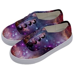 Galaxy Space Star Light Purple Kids  Classic Low Top Sneakers by Mariart