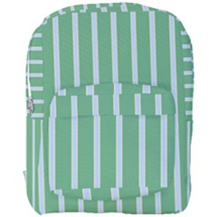 Green Line Vertical Full Print Backpack by Mariart