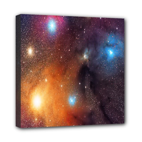 Galaxy Space Star Light Mini Canvas 8  X 8