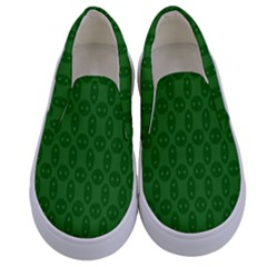 Green Seed Polka Kids  Canvas Slip Ons