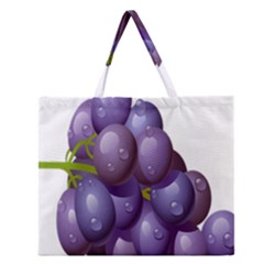 Grape Fruit Zipper Large Tote Bag by Mariart