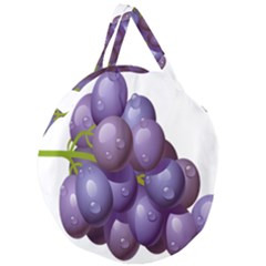 Grape Fruit Giant Round Zipper Tote by Mariart