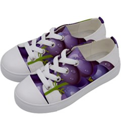Grape Fruit Kids  Low Top Canvas Sneakers by Mariart