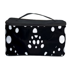 Helmet Original Diffuse Black White Space Cosmetic Storage Case by Mariart