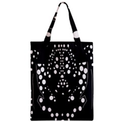 Helmet Original Diffuse Black White Space Zipper Classic Tote Bag by Mariart