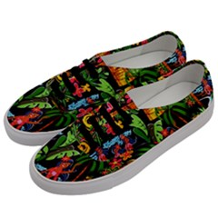 Hawaiian Girls Black Flower Floral Summer Men s Classic Low Top Sneakers by Mariart