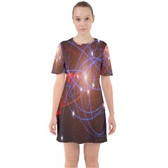 Highest Resolution Version Space Net Sixties Short Sleeve Mini Dress