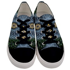 Hipnotic Star Space White Green Men s Low Top Canvas Sneakers