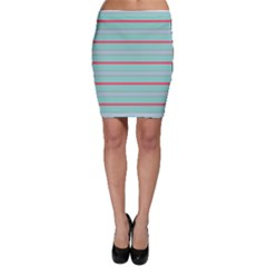 Horizontal Line Blue Red Bodycon Skirt