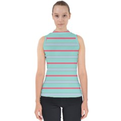 Horizontal Line Blue Red Shell Top