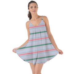 Horizontal Line Green Pink Gray Love The Sun Cover Up