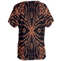 Golden Fire Pattern Polygon Space Women s Oversized Tee View2