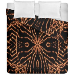 Golden Fire Pattern Polygon Space Duvet Cover Double Side (california King Size) by Mariart