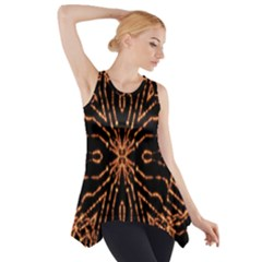 Golden Fire Pattern Polygon Space Side Drop Tank Tunic by Mariart