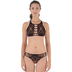 Golden Fire Pattern Polygon Space Perfectly Cut Out Bikini Set by Mariart