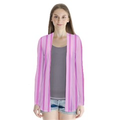 Line Pink Vertical Drape Collar Cardigan by Mariart