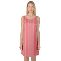 Line Red Grey Vertical Sleeveless Satin Nightdress by Mariart