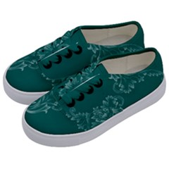 Leaf Green Blue Sexy Kids  Classic Low Top Sneakers by Mariart