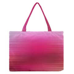 Line Pink Space Sexy Rainbow Zipper Medium Tote Bag