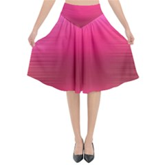 Line Pink Space Sexy Rainbow Flared Midi Skirt by Mariart