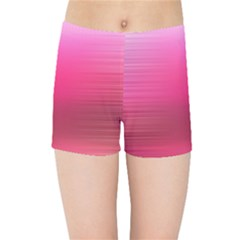 Line Pink Space Sexy Rainbow Kids Sports Shorts