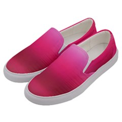 Line Pink Space Sexy Rainbow Men s Canvas Slip Ons by Mariart