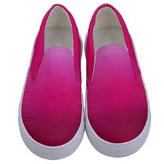 Line Pink Space Sexy Rainbow Kids  Canvas Slip Ons