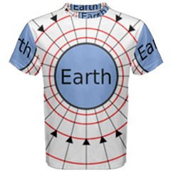 Magnetik Earth s Gravitational Line Triangle Men s Cotton Tee by Mariart