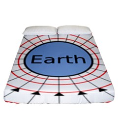 Magnetik Earth s Gravitational Line Triangle Fitted Sheet (king Size) by Mariart