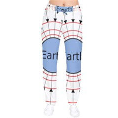Magnetik Earth s Gravitational Line Triangle Drawstring Pants by Mariart