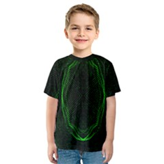 Green Foam Waves Polygon Animation Kaleida Motion Kids  Sport Mesh Tee by Mariart